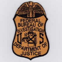Replica Patch - FBI POLICE Badge Patch Orange