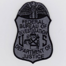 Replica Patch - FBI POLICE Badge Patch Grey