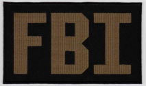Replica Patch - FBI POLICE Panel Patch Green