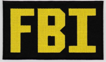 Replica Patch - FBI POLICE Panel Patch Yellow