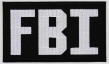 Replica Patch - FBI POLICE Panel Patch White