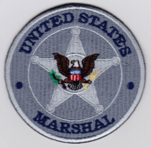 Replica Patch - US MARSHAL Badge Patch Silver
