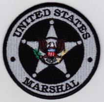 Replica Patch - US MARSHAL Badge Patch Black