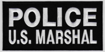 Replica Patch - US MARSHAL Panel Patch White