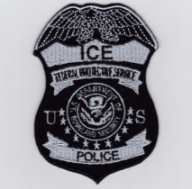 Replica Patch - ICE POLICE Badge Patch Black