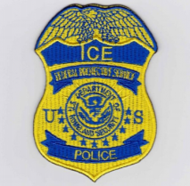 Replica Patch - ICE POLICE Badge Patch Yellow