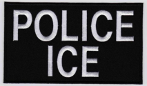 Replica Patch - ICE POLICE Panel Patch White