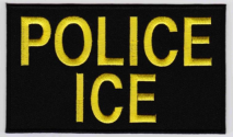 Replica Patch - ICE POLICE Panel Patch Yellow
