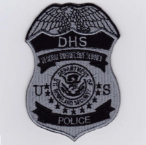 Replica Patch - DHS POLICE Badge Patch Black