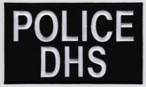 Replica Patch - DHS POLICE Panel Patch White