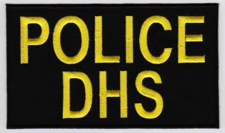 Replica Patch - DHS POLICE Panel Patch Yellow