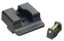 DETONATOR - TTI Ultimate Fiber Optic Type Steel Front & Rear Sight For Tokyo Marui Glock GBB Series