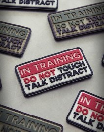 PVC Patch - IN TRAINING Red