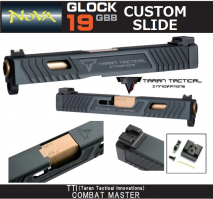 NOVA - Glock19 Taran Tactical Innovations TTI Combat Master Custom Slide Black For Tokyo Marui Glock 19
