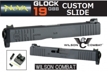 NOVA - Glock19 Wilson Combat Type Custom Slide Black For Tokyo Marui Glock 19