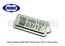Tokyo Marui Spare Parts MP7A1 AEG / MP7-17 (Serial Plate)