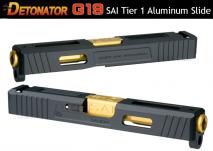 DETONATOR - Salient Arms Tier1 Glock19 Custom Slide Black For Tokyo Marui Glock 19