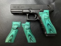 PANDORA ARMS - Wood Grip Glock 17/18C Smooth Green