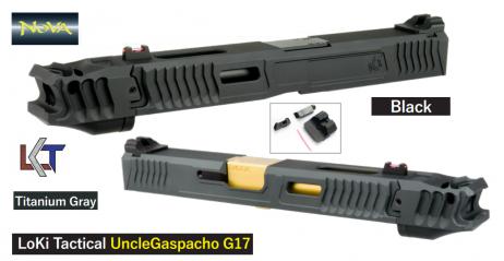 NOVA - G17 LOKI Uncle Gaspacho Custom Slide with Compensator For Tokyo Marui Glock 17