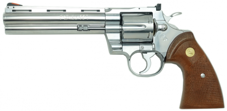TANAKA WORKS - Colt Python .357 Magnum 6inch R-MODEL Stainless Finish (Gas Revolver)