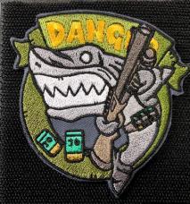NITRON PATCH - Shotgun Shark Green