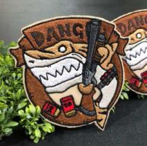 NITRON PATCH - Shotgun Shark Brown