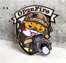 NITRON PATCH - Hand Gun Neko Brown