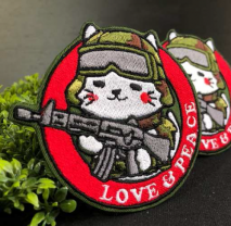 NITRON PATCH - Type89 Siro Neko Red