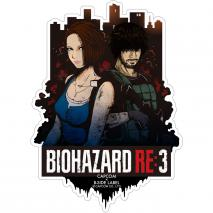 CAPCOM Bio Hazard RE:3 - Sticker Jill & Carlos