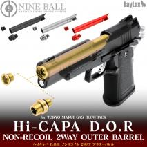 "LAYLAX/NINE BALL - Hi-Capa 5.1 D.O.R ""2 Way"" Non-Recoiling Outer Barrel"