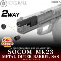 LAYLAX/NINE BALL - SOCOM MK23 2 Way Metal Outer Barrel SAS