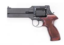 Marushin - Mateba Revolver 5inch Matt Black ABS Wood Grip・6mmBB・X-Cartridge version
