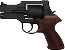 Marushin - Mateba Revolver 3inch Deep Black ABS Wood Grip・6mmBB・X-Cartridge version