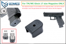 EMG - SAI Type Polymer Extended Magazine Bumper for Tokyo Marui / WE G17 Magazine