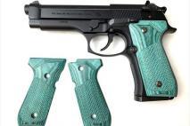 PANDORA ARMS - Wood Grip U.S. M9/M9A1 Checker Green