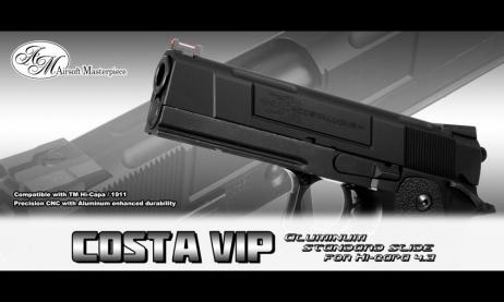 Airsoft Masterpiece - STI V.I.P. COSTA 4.3 Model Black Custom Slide For TM HiCapa 4.3 GBB