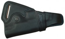 EAST-A - LEATHER SILHOUETTE HOLSTER / THUMB BREAK CROSS TYPE/ Cow Learther Backside / GM, CC, M1911A1, 45, Hi-capa5.1 BLACK - d