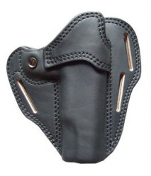 EAST-A - LEATHER SILHOUETTE HOLSTER / CROSS TYPE/ GM, M1911A1, Hi-capa5.1 BLACK -