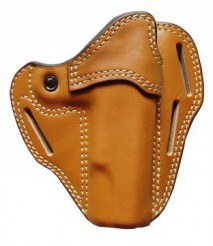 EAST-A - LEATHER SILHOUETTE HOLSTER / CROSS TYPE/ GM/M1911A1, Hi-capa5.1 BROWN -