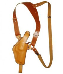 EAST-A - LEATHER SILHOUETTE HOLSTER / SHOULDER HOLSTER/ THUMB BREAK ONE SIDE SHOULDER/ Chief 2~3 inch BROWN