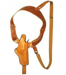 EAST-A - LEATHER SILHOUETTE HOLSTER / SHOULDER HOLSTER/ THUMB BREAK ONE SIDE SHOULDER/ Chief 2~3 inch N Frame, K frame BROWN -