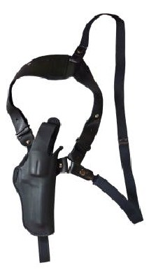 EAST-A - LEATHER SILHOUETTE HOLSTER / SHOULDER HOLSTER/ THUMB BREAK ONE SIDE SHOULDER/ Chief 3.5~4 inch N Frame, K frame BLACK -