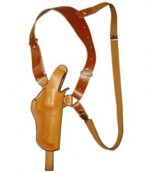 EAST-A - LEATHER SILHOUETTE HOLSTER / SHOULDER HOLSTER/ THUMB BREAK ONE SIDE SHOULDER/ Chief 3.5~4 inch N Frame, K frame BROWN -