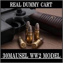 RIGHT - Real Dummy Cart 30 MAUSER WW2 (inwar model) / 8 carts set