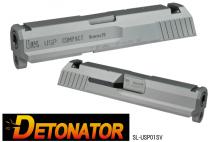 DETONATOR - USP COMPACT Custom Slide SILVER For Tokyo Marui USP COMPACT GBB