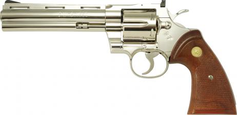 TANAKA WORKS -Colt Python .357 Magnum 6inch R-MODEL Nickel Finish (Gas Revolver)