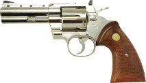 TANAKA WORKS -Colt Python .357 Magnum 4inch R-MODEL Nickel Finish (Gas Revolver)