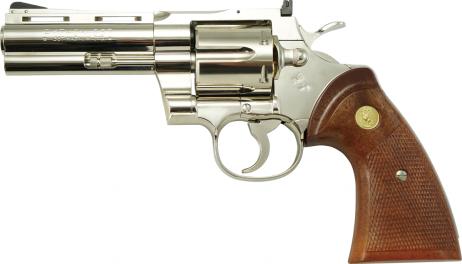 TANAKA WORKS -Colt Python .357 Magnum 4inch R-MODEL Nickel Finish (Gas Revolver)