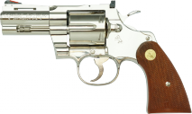TANAKA WORKS -Colt Python .357 Magnum 3inch R-MODEL Nickel Finish (Gas Revolver)