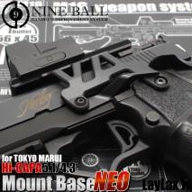 LAYLAX/NINE BALL - Tokyo Marui GBB HiCapa 5.1 / 4.3 Aluminum Mount Base NEO